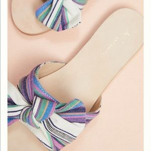 8a6b476fb185 Anthropologie Shoes - 1 DAY SALE Anthropologie Striped + Knotted Sandals